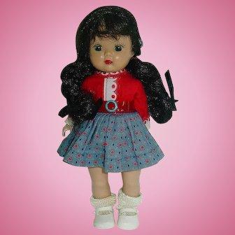 Nancy Ann Storybook ~  SLW Brunette MUFFIE Doll W/Braids