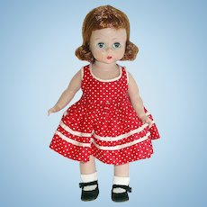 "Vintage 8"" BKW Alexander-Kin ~ Redhead in School Dress"