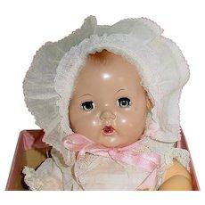 "Vintage Effanbee 11""  Dy Dee Baby ~ Ellen Doll W/Wrist Tag & Box"