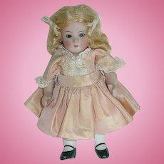 "Vintage 5 1/4"" German All Bisque Bonn Doll"