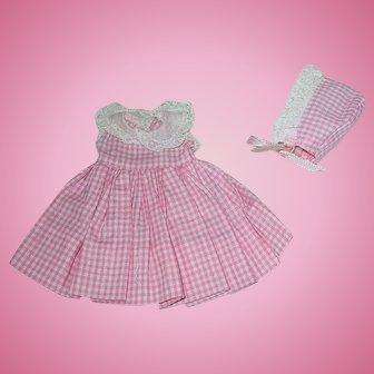 Vintage 1950s Alexander LITTLE GENIUS ~ Dress & Bonnet