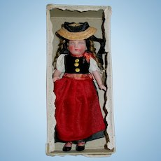 "Vintage 6 1/2"" German CELLULOID Girl Doll ~ Mint in Box"