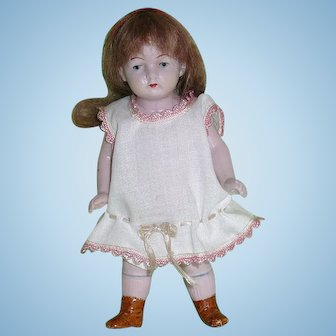 """German All Bisque 5"""" Doll #621 ~ Chubby!!"""