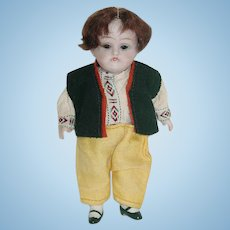 "5"" German All Bisque KESTNER Boy Doll #150"