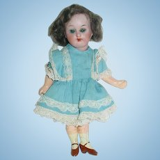 """Antique 6"""" German ~ Bisque Head Compo Body Doll"""