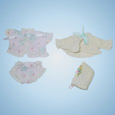 """Two Vintage Alexander 7 1/2"""" Little Genius ~ Outfits"""