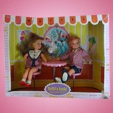 Vintage 1965 ~ Tutti & Todd Dolls ~ Sundae Treat #3556 in Original Box
