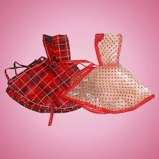 "Two Vintage 1950s Vogue 8"" Ginny Rain Ponchos"
