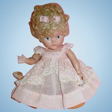 Vintage 1950 Vogue Ginny Doll ~  Crib Crowd Poodle Cut ~ Painted Eye