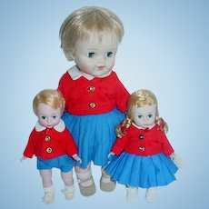 Vintage Madame Alexander 1963 Twins ~ BILL, WENDY & Smarty