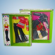 2 Mod Era Hasbro 1971 World of Love ~ Outfits ~ Sport Gear & Jazzy Jeans NRFB