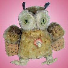 "Vintage 5 1/2"" Steiff ~ Wittie OWL W/Tag"
