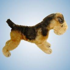 "Vintage German Steiff Dog ~ 8"" Mohair Terrier"