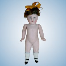 """Adorable 4"""" All Bisque Doll ~ #176 5/0 ~ Painted Eyes"""