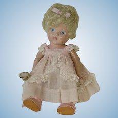 Vintage 1950 Vogue Ginny Doll ~ Crib Crowd Poodle Cut ~ Painted Eye