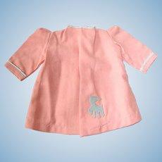 """16"""" Vintage TERRI LEE ~ Pink Wool Coat W/Lamb"""