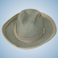 """Vintage 4.25"""" Boy Doll Hat Fedora ~ Dobbs New York"""