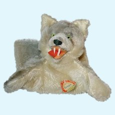 Vintage STEIFF ~ Wolf Puppet Loopy ~  Mohair W Tag