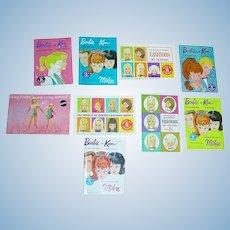 9 Vintage 1960s Barbie BOOKLETS