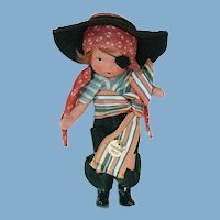 Nancy Ann Storybook ~ #61 PIRATE ~ Masquerade Series ~ Molded Sock