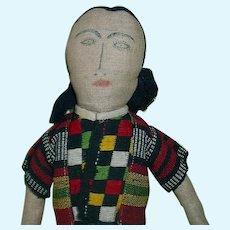 "Vintage 12"" Cloth Doll Philippines"