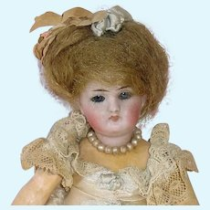 """Antique German 7"""" Bisque Head Compo Body Doll ~ Marked 2"""
