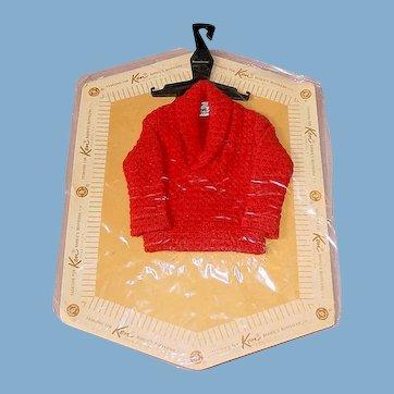 Vintage 1962 KEN Pak Sweater ~ Mint on Card
