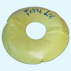 """Vintage TERRI LEE Doll ~ 11"""" Inner Tube ~ Swim Ring"""