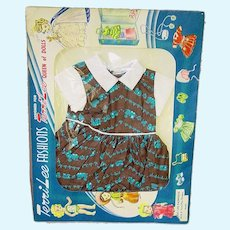 "Vintage 16"" Terri Lee Fashion ~  Terri Train Dress ~ MIP ~ 1950s"