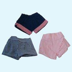 "3 Pairs Vintage 10"" Tiny Jerri Lee ~ Shorts"