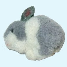 "Steiff 3.5"" BUNNY Pompom Wool ~ Gray & White"