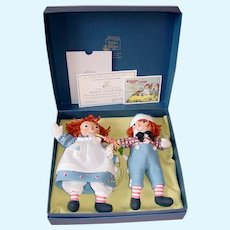 "R. John Wright ~ Forever Friends  8"" Raggedy Ann & Andy MIB"