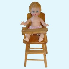"Vintage 7.5"" Alexander ~ LITTLE GENIUS W/ Strombecker Highchair"