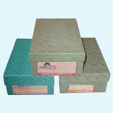 Three Vintage Madame Alexander ~ Alexander-Kin Wendy-Kin Boxes