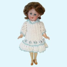 "Adorable 7"" Bisque Head ~ Armand Marseille Flapper Style Doll"