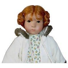 "Kathe Kruse 10"" Thumbelina Noel Doll ~ LE Mint"