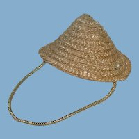 "Vintage 1950s ~ 8"" Alexander-Kin Straw HAT"