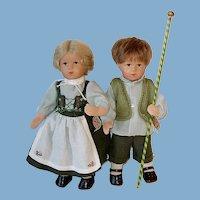 """Gorgeous 14"""" Kathe Kruse ~ Boy & Girl Special Ed. Set"""