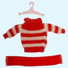 Vintage Ideal TAMMY Fashion ~ #9244 Sweater ~ NM W/ Scarf