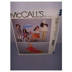 Vintage McCall Doll Pattern for Darci & Barbie! - Red Tag Sale Item