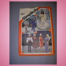 "Simplicity 11 1/2"" Doll Pattern -Barbie & High Heeled Fashion Dolls!"
