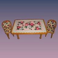 Vintage Metal HTF Decorative Doll Table & Chair Set!