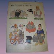 "1923 Vintage Paper Doll Sheet ""Little Bo-Peep and the Dutch Uncle"" Uncut!"