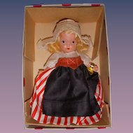 "Nancy Ann Storybook Doll Early Bisque ""Dutch"" MIB!"