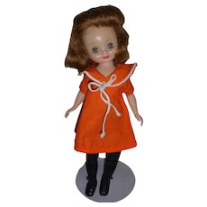 """Vintage 1950s 8"""" Betsy McCall Doll in """"At The Zoo"""" Outfit!"""