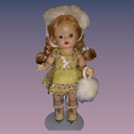 Vintage 1950s Muffie Ice Skater Doll All Original!