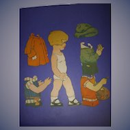 """1926 Vintage Paper Doll Sheet """"Peggy Pryde's Little Brother Peter"""""""