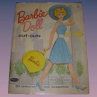 "1962 Vintage ""Barbie Doll Cut-Outs"" Paper Doll Set"
