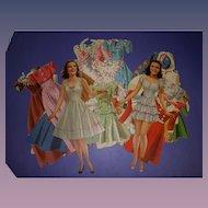 """Vintage 1941 Movie Star """"Deanna Durbin"""" Paper Dolls"""