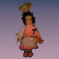 "Vintage 1930s Cloth ""Mariposa"" Doll."